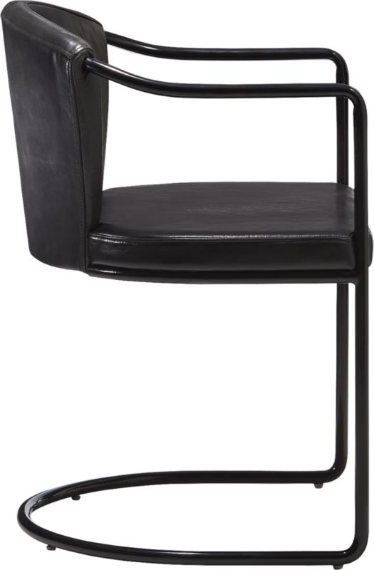 Cleo Black Cantilever Chair