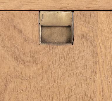 Archdale Buffet, Natural Oak/Satin Brass