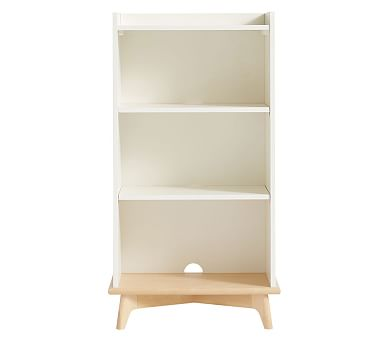 Sloan Tall Bookcase, Simply White/Natural, Standard UPS Delivery