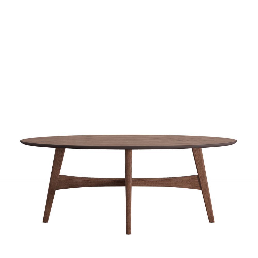 Calamar Walnut (Brown) Mid Century Cocktail Table