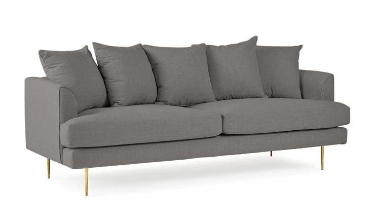 Gray Aime Mid Century Modern Sofa - Mixology Granite
