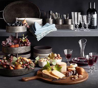Mason Salad Plate, Set of 4 - Ivory