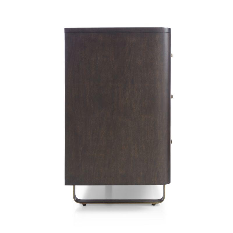 Gwen 6-Drawer Wood and Metal Dresser