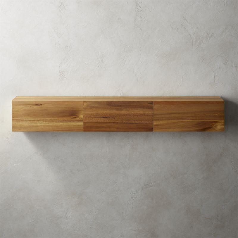 Hide N Seek Large Acacia Storage Shelf