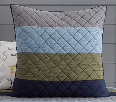 Block Stripe Quilt, Twin, Kelly Green