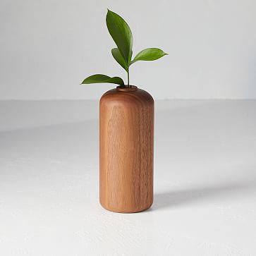 Melanie Abrantes Hardwood Vase, Tall, Walnut
