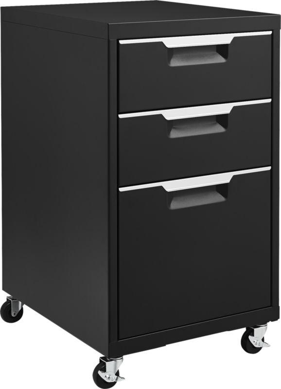 TPS Black 3-Drawer Filing Cabinet