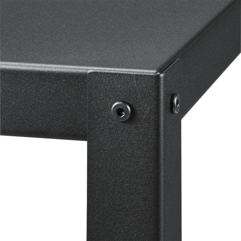 Go-Cart Black Five-Shelf Rolling Bookcase
