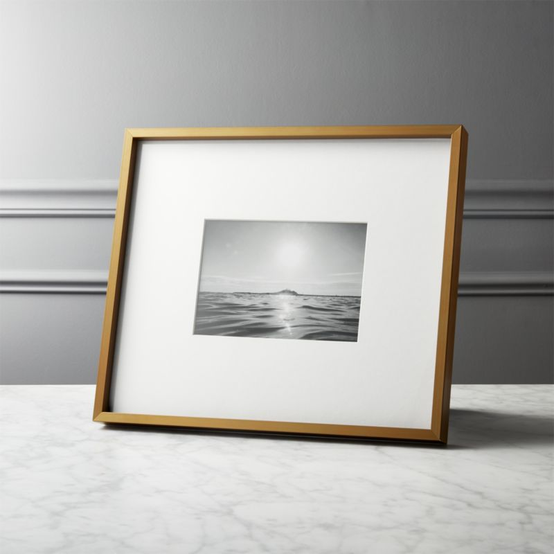 Gallery Brass Frame with White Mat 11x14