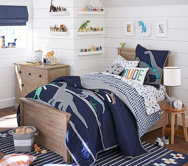 Charlie Low Footboard Bed, Full, Weathered Navy, Flat Rate
