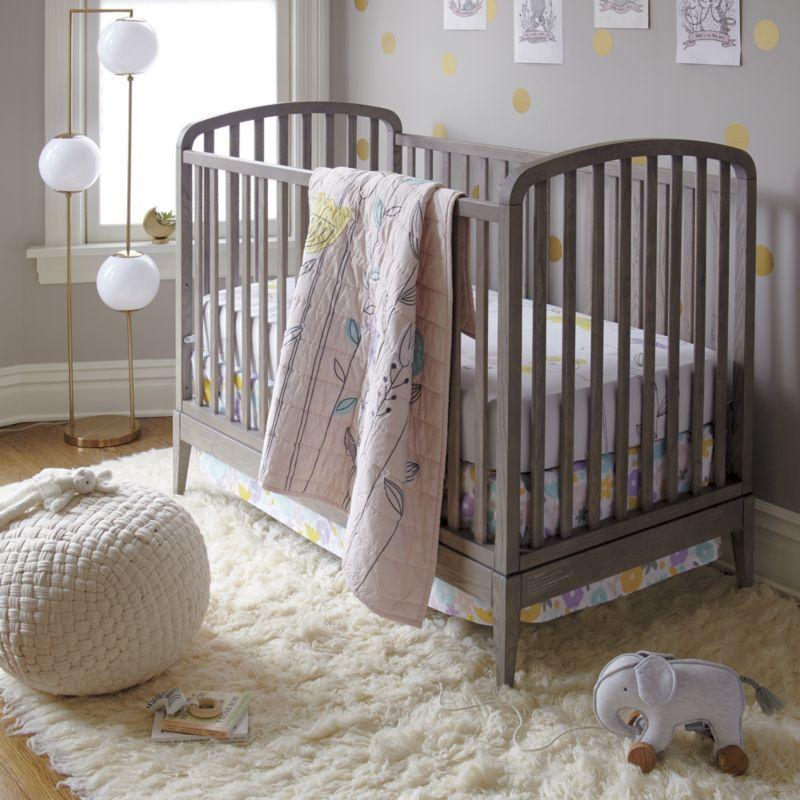 Archway Grey Stain Crib