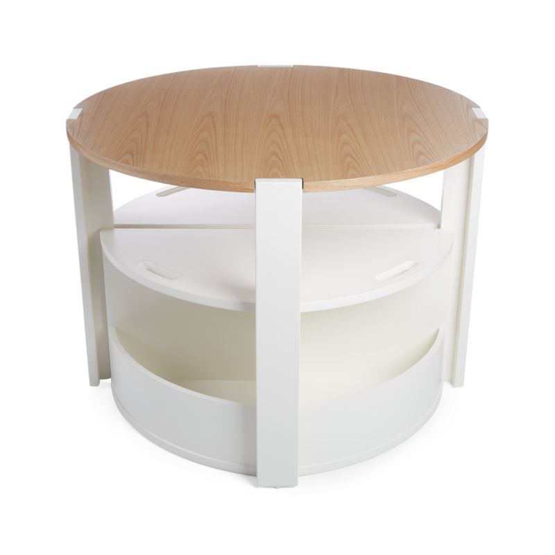 Nesting White Play Table and Chairs