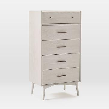 Mid-Century 5-Drawer Dresser, Pebble