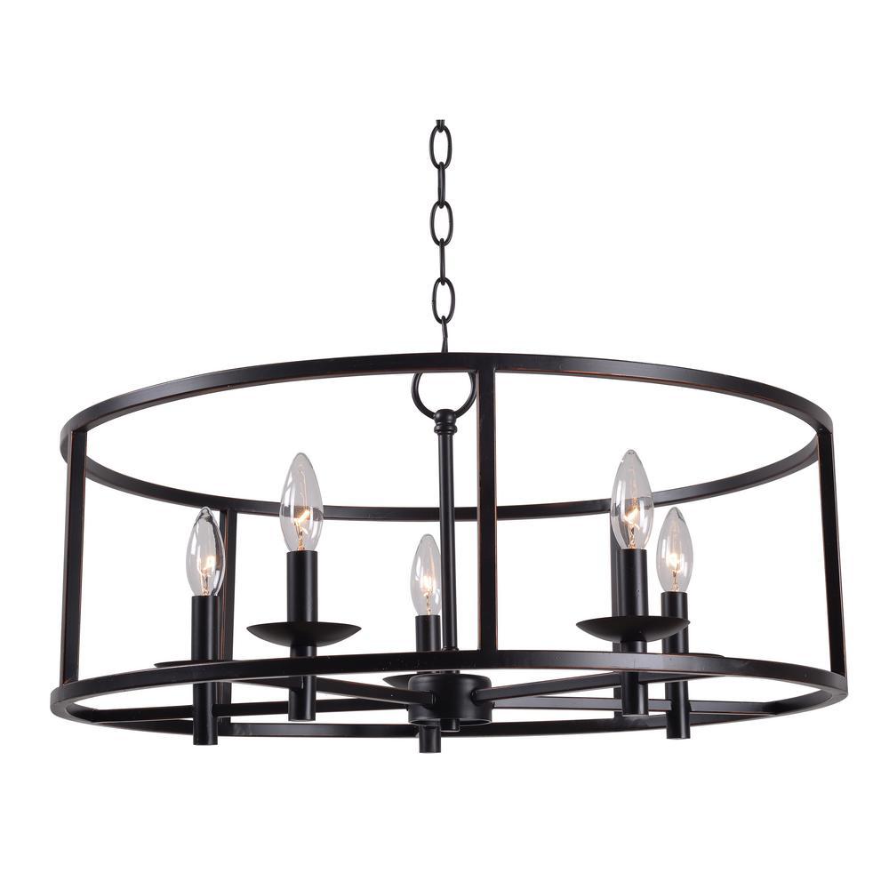 Kenroy Home Arlen 5-Light Bronze Chandelier