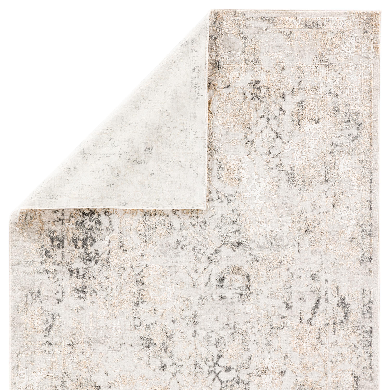 "Clara Floral Gray Area Rug (5X7'6"")"