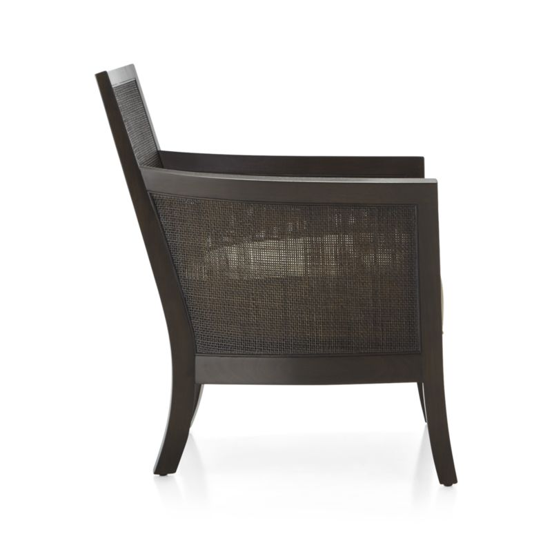 Blake Carbon Grey Rattan Chair with Fabric Cushion