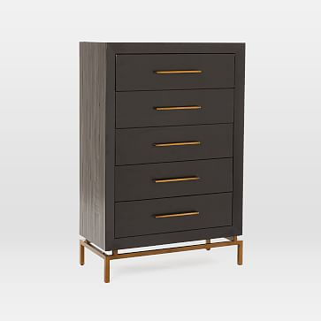 Alexa 5-Drawer Dresser, Black