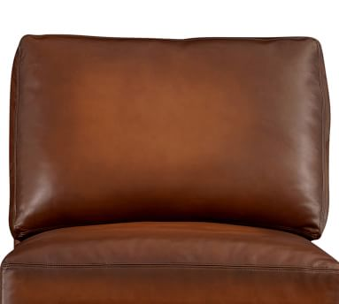 """Turner Roll Arm Leather Grand Armchair 48"""", Down Blend Wrapped Cushions/  Statesville Molasses"""