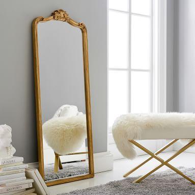 Ornate Filigree Mirrors, Brass