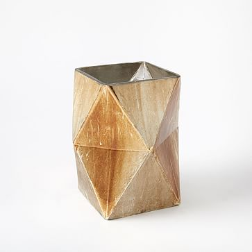 Prism Mecury Vase, Large, Gold