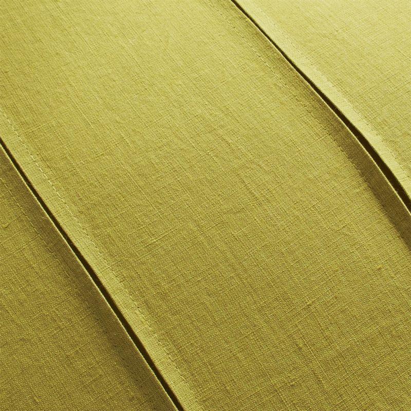 "Theta Chartreuse Linen Pillow Cover 20"""