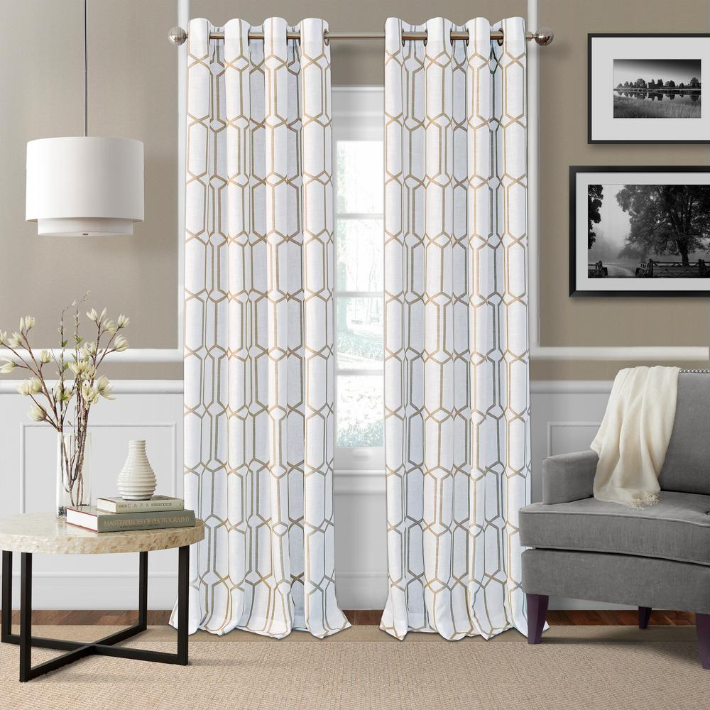 Elrene Kaiden Taupe (Brown) Single Blackout Window Curtain Panel - 52 in. W x 95 in. L