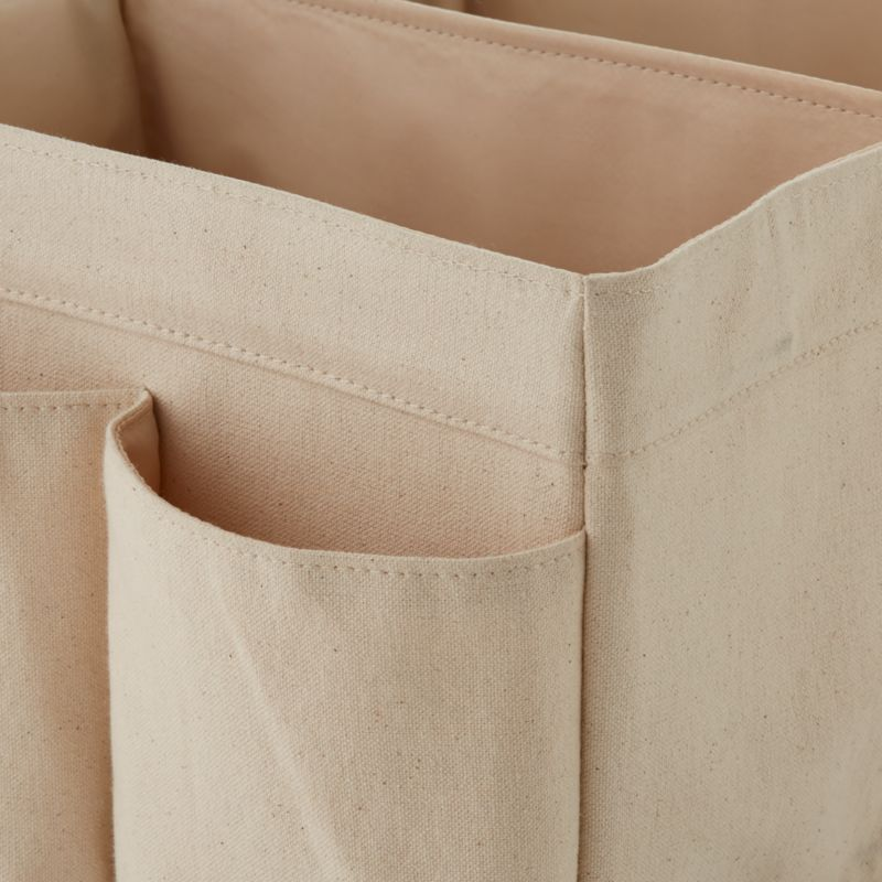 Leather Handle Diaper Caddy