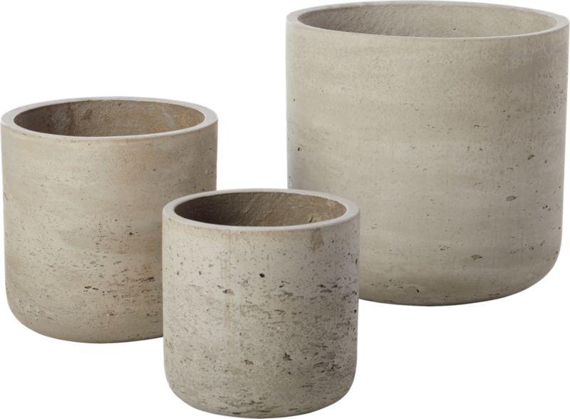 "Seminyak Taupe Cement Planter 7"""