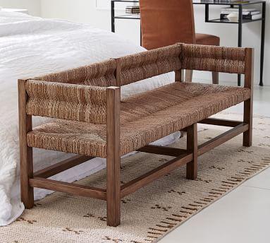 Malibu Woven Bench, Honey