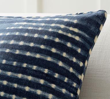 "Shibori Diamond Pillow Cover, Blue, 20"""
