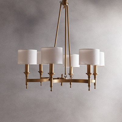 Rudolph 6 Light Shaded Classic Traditional Chandelier Allmodern