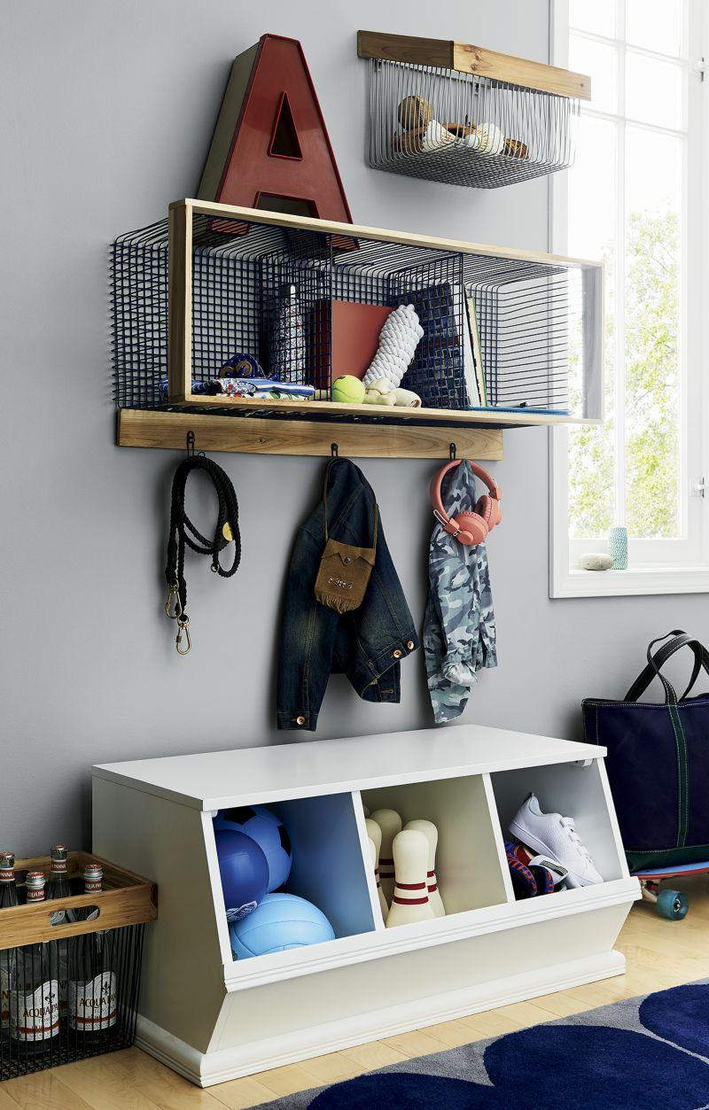 Wood and Wire Aqua 3-Cube Shelf