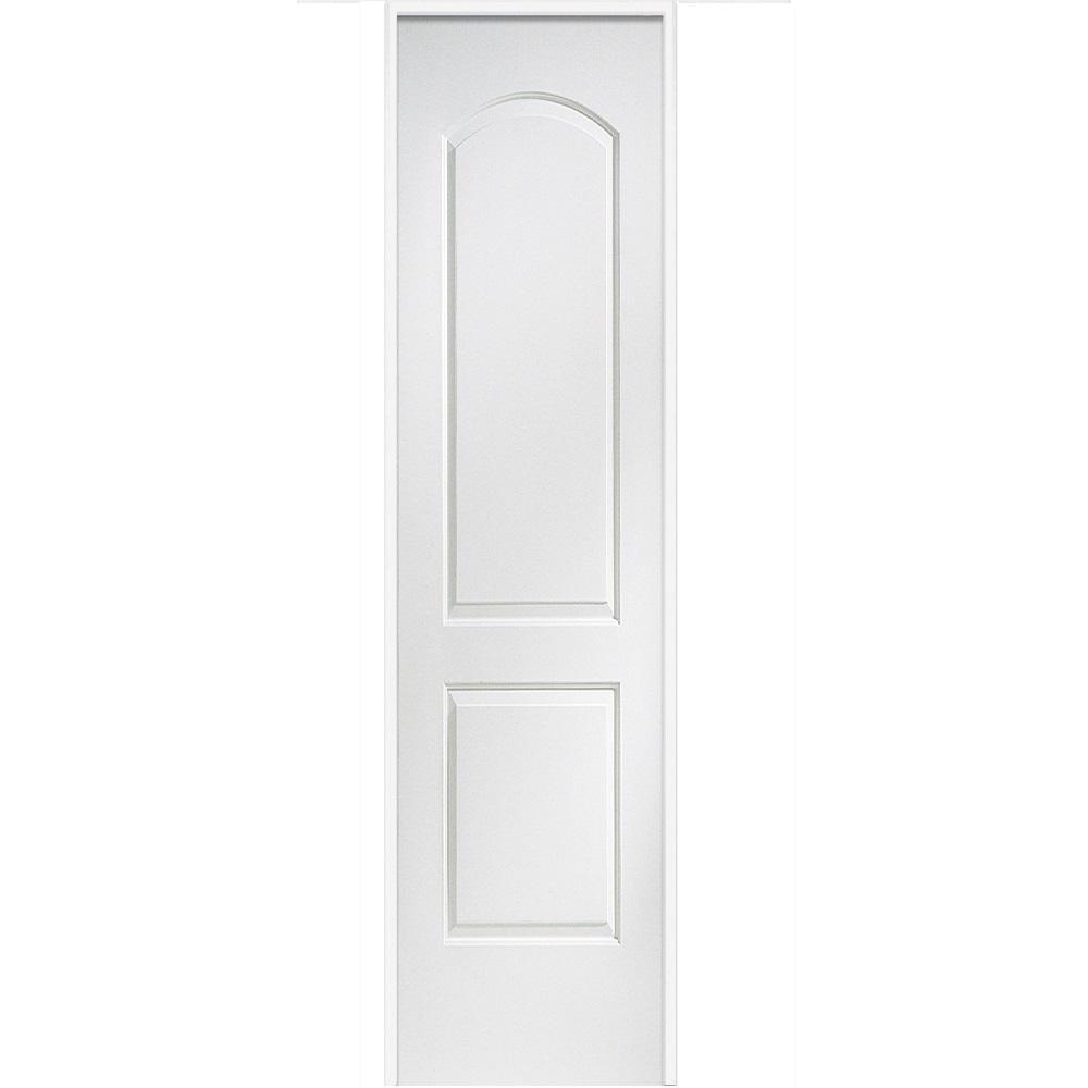 MMI Door 18 in. x 80 in. Smooth Caiman Left-Hand Solid Core Primed Molded Composite Single Prehung Interior Door