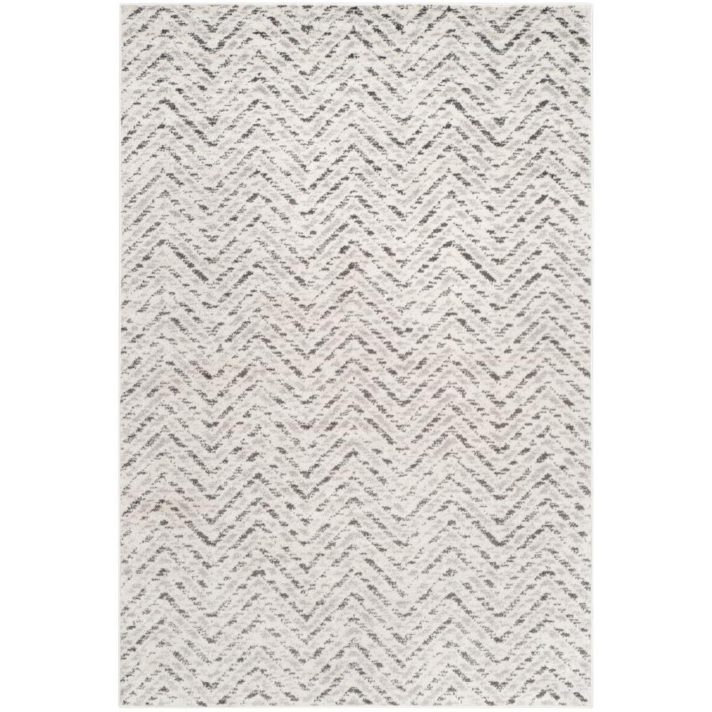 Adirondack Ivory/Charcoal (Ivory/Grey) 5 ft. x 8 ft. Area Rug