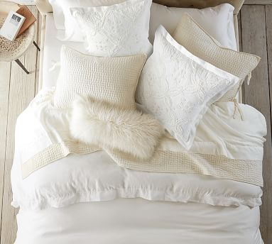Pickstitch Quilt, King/Cal King, Classic Ivory