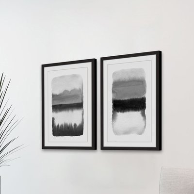 'Transitions Diptych' Framed 2 Piece Watercolor Painting Print Set
