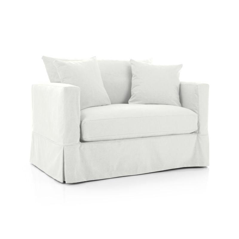 Willow Modern Slipcovered Twin Sleeper Sofa