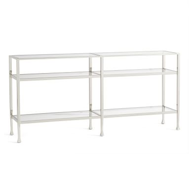 Tanner Long Console Table, Nickel finish