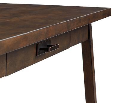 Mateo Small Rustic Desk, Salvaged Gray