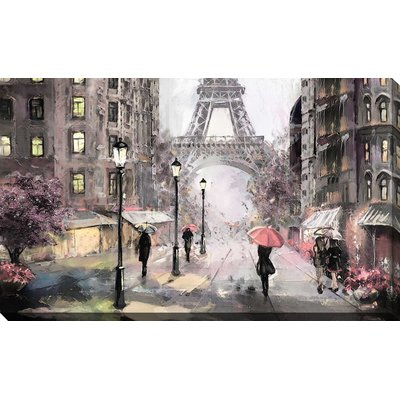 'Paris Streets II' Print on Canvas