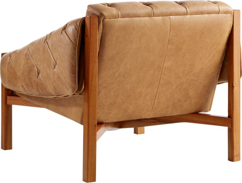 Abruzzo Brown Leather Tufted Chair