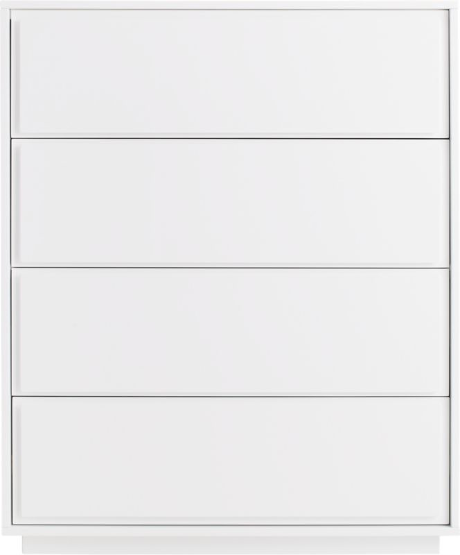 Gallery White 4-Drawer Tall Chest