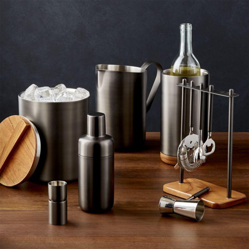 Fenton Graphite and Wood Bar Tool Set