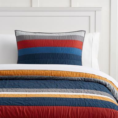 MVP Stripe Quilt, Twin/Twin XL, Multi