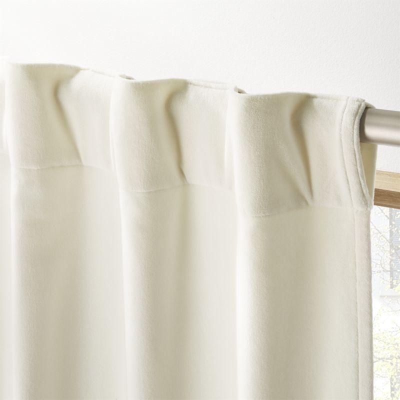 """""""Ivory Velvet Curtain Panel 48""""""""x120"""""""""""""""