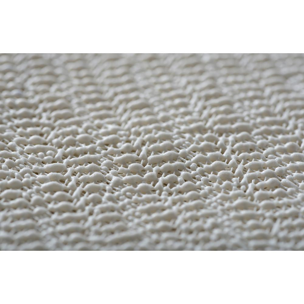 Comfort Grip Ivory 8 ft. x 10 ft. Rug Pad, White