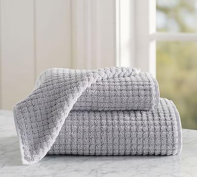 Aerospin(TM) Sculpted Organic Bath Towel, Gray Mist