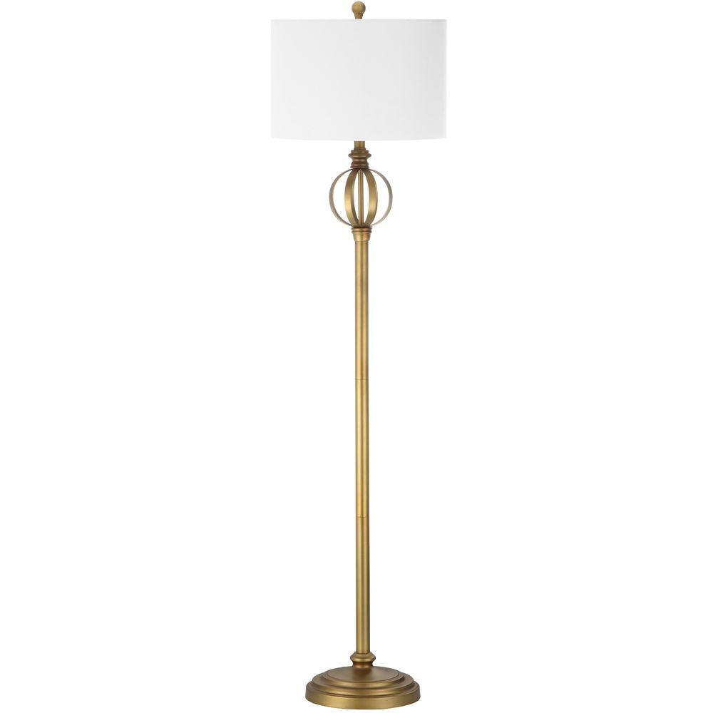 Safavieh Garden 61.5 in. Gold Floor Lamp