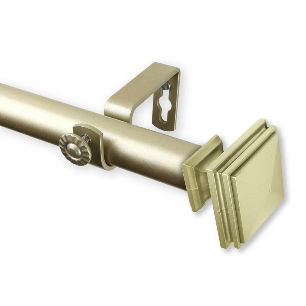 Rod Desyne Bedpost 160 in. - 240 in. Curtain Rod in Light Gold
