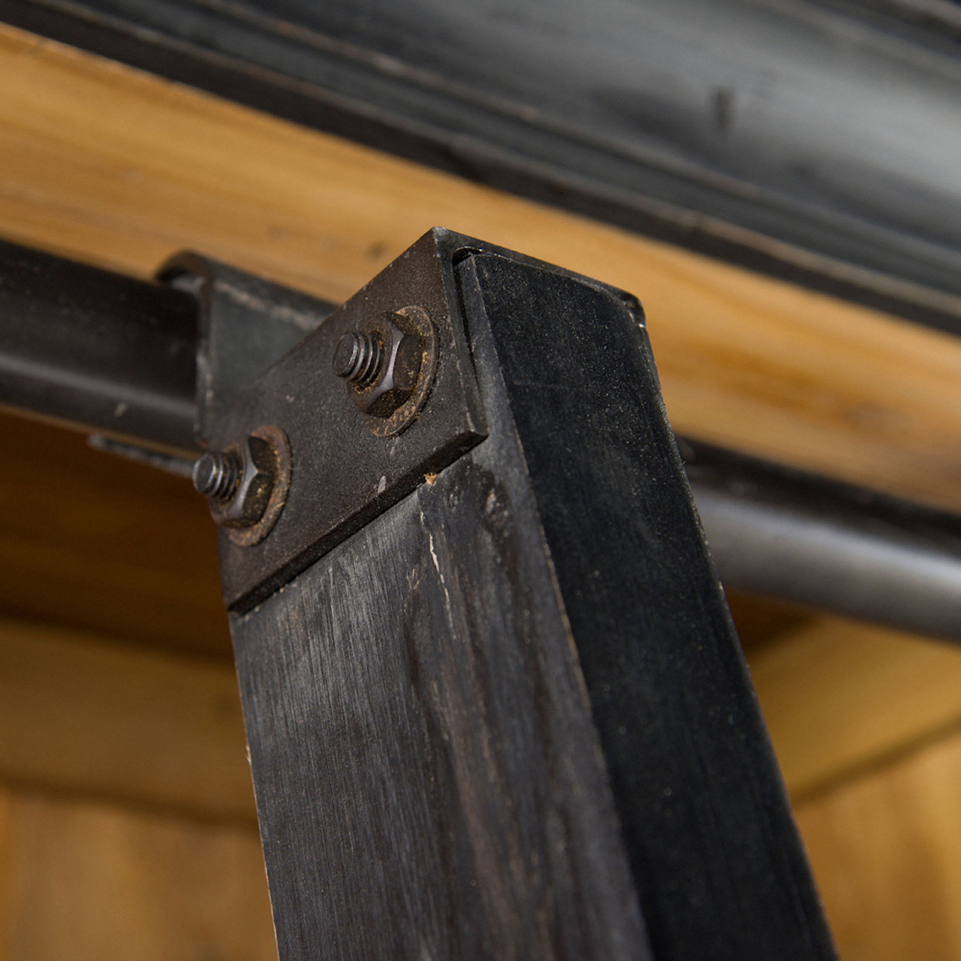 Ashlyn Rustic Lodge Pine Wood Metal Ladder Bookcase